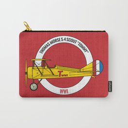"""Thomas-Morse S-4 Scout """"Tommy"""" - WWI Biplane   Planes & Lines Carry-All Pouch"""