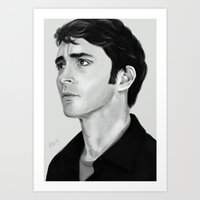 lee pace Art Prints featuring Lee by Katie Arts