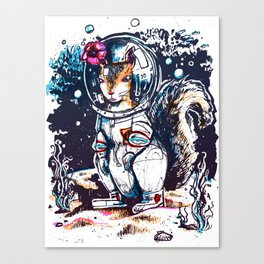 Squirrel in a Diving Suit Canvas Print