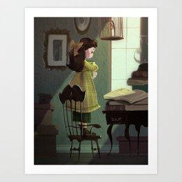 Greenie Art Print