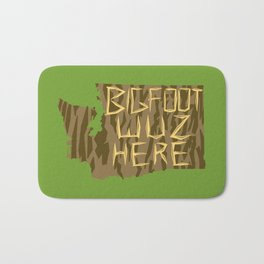 Bigfoot wuz here Bath Mat