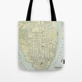 Vintage Map of Charleston SC (1901) Tote Bag