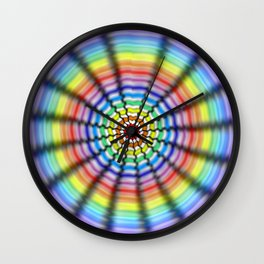 Radiating Flower Wall Clock