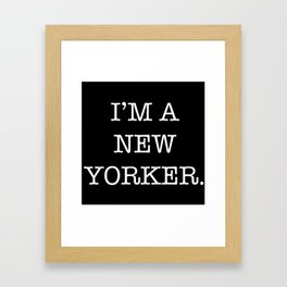 NEW YORKER Framed Art Print