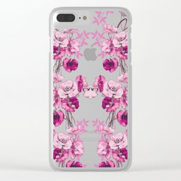 Dramatic Florals (Pink) #society6 #homedecor #zalafarah Clear iPhone Case