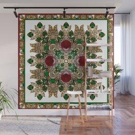 Kaleidoscope No. 30 Emeralds, Rubies and Diamonds Wall Mural