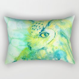 green owl Rectangular Pillow