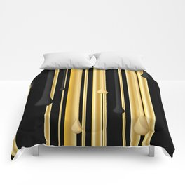 DRIPPING IN GOLD Comforters