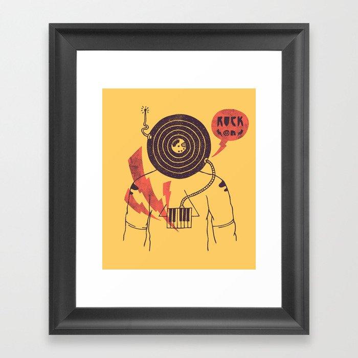 The Vinyl Frontier (alternate) Framed Art Print