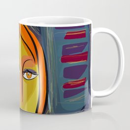 Woman at the window on the French Riviera Coffee Mug
