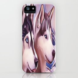 A Pair of Siberian Huskys iPhone Case