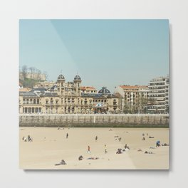 The City Hall and The Beach Metal Print