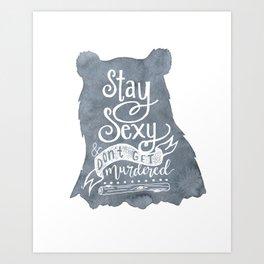 SSDGM Bear Art Print