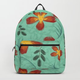Aloha Tropical Summer Garden Flowers Backpack