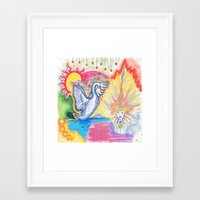 swan Framed Art Prints featuring swan  by Spirit Candy