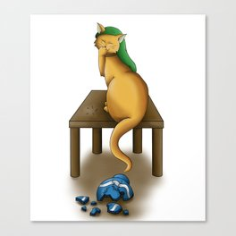 Whoops! Canvas Print