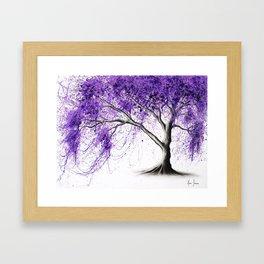 Purple Tree Framed Art Print