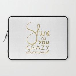 Shine on You Crazy Diamond Gold I Laptop Sleeve