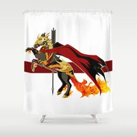 smaug Shower Curtains featuring Smaug by MarieJacquelyn