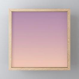 Sunset Gradient Purple Pink Peach Coral Framed Mini Art Print