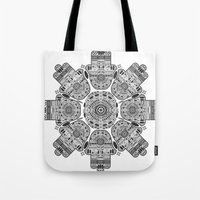 hamsa Tote Bags featuring Hamsa by Paint it graphics