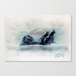 Rectangles - Perspective of Milford Sound Canvas Print
