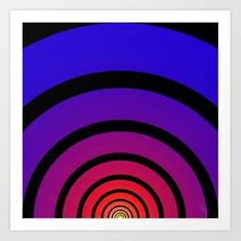 Blue, Red, and Yellow Circles Art Print