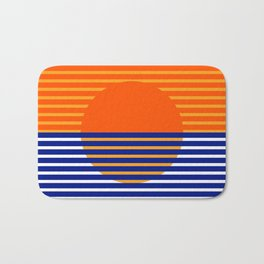 Orange Split Sun Bath Mat