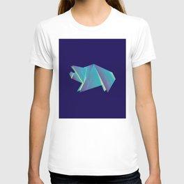 Neon origami pig T-shirt