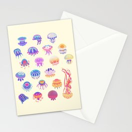 Jellyfish Day - pastel Stationery Cards