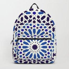 V19 Epic Light Blue Traditional Moroccan Pattern Design . Backpack