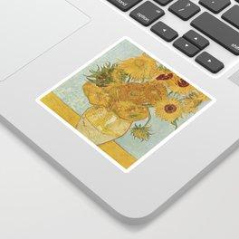 Vase with Twelve Sunflowers, Van Gogh Sticker