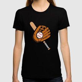 Baseball Pattern in Light Blue T-shirt