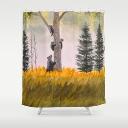 Bears In The Blue Ridge Mountains Shower Curtain