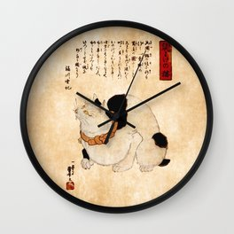 Kuniyoshi Cat Wall Clock