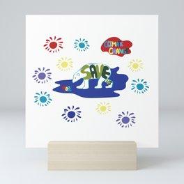 Save Us Polar Bears Mini Art Print