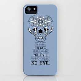 Cute Skull See no Evil iPhone Case