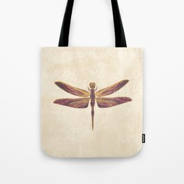 Art Nouveau Dragonfly In Purple Tote Bag
