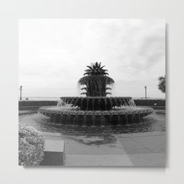Pineapple Fountain Charleston River Park Metal Print