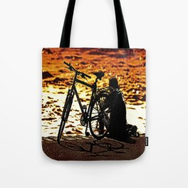 Chilling by the river Tote Bag