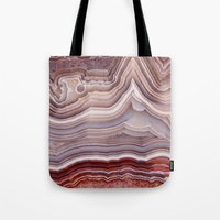 agate Tote Bags featuring Agate Crystal by Santo Sagese