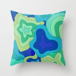 groovin' to the blue  Throw Pillow