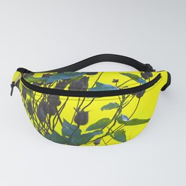 Still Beautiful - Flower Silhouette On a Green Background #society6 Fanny Pack