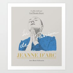 La Passion de Jeanne D'Arc Art Print
