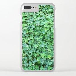 Green Clovers Nature Photo #GaneneKPhotogaphy #StPatricksDay Clear iPhone Case