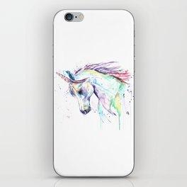 Colorful Unicorn Watercolor Painting - Kenzie's Unicorn iPhone Skin