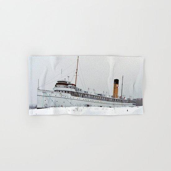 SS Keewatin in Winter White Hand & Bath Towel