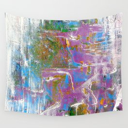 Sky Dive - colorful abstract painting. Wall Tapestry