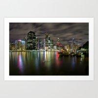 Brisbane by night Art Print