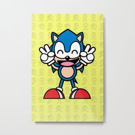Hedgehog Kawaii Metal Print